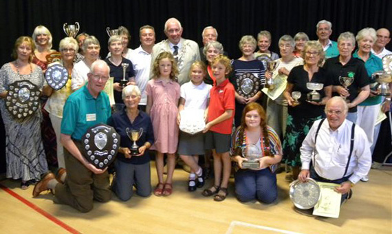 Wimborne in Bloom Prizewinners with their Trophies