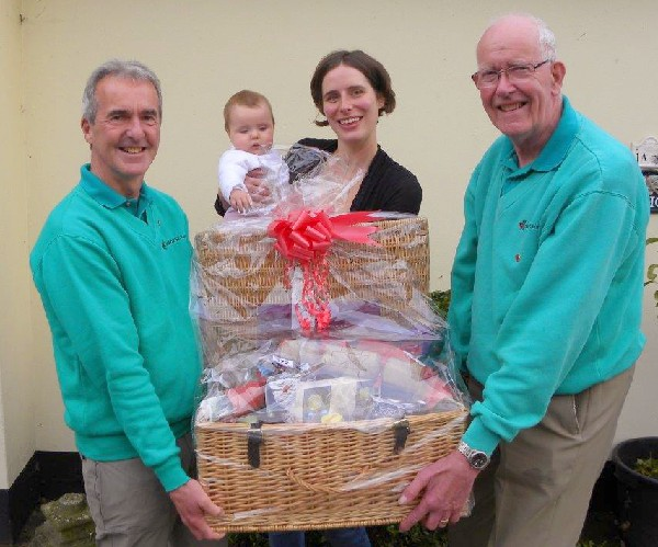 Lil Bolton wins first prize in Charities Fair raffle