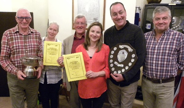 Sam and Joes Challenge Bowl and Civic Pride Award recipients at Wimborne in Bloom social evening